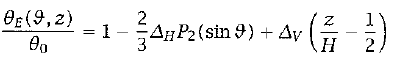 Radiative Equilibrium  		Temperature Equation